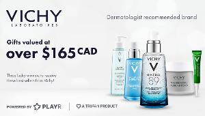 Enter for your chance to win one of three Vichy product bundles valued at over $165 CAD!