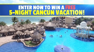 ENTER NOW TO WIN A FREE 5-NIGHT CANCUN VACATION!