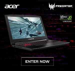 Enter the Acer Predator Helios 300 Gaming Laptop Giveaway