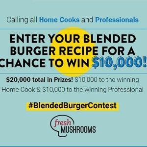 Enter to Win 1 of 2 $10,000 Prizes|Food Network - Blended Burger Recipe Contest