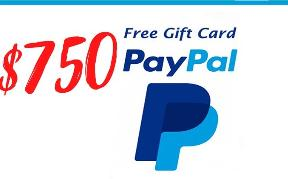 Enter to win $750 PayPal for shopping