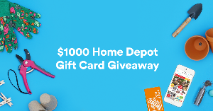Enter To Win a $1000 Home Depot Set