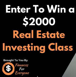 enter to win a $2000 real estate investing class