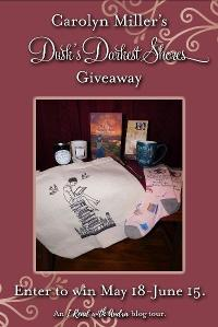 Enter to win a fun prize pack inspired by the book and its English setting that includes: a copy of Dusk's Darkest Shores, a canvas bag to carry your latest reads, a fun pair of Jane Austen socks...+lots more...