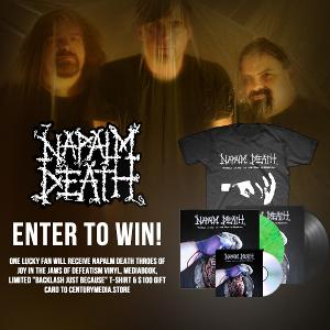 Enter to Win a Napalm Death 'Throes of Joy in the Jaws of Defeatism' Mega-Bundle!