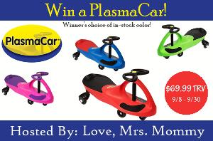 Enter to win a plasma car for the kids! Giveaway open to US and Canada only.