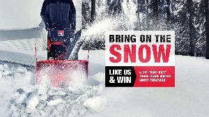 "Enter to win a Troy-Bilt 24"" Vortex snow thrower!"