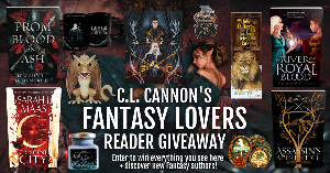 Enter to win hardback books &  a Shadow & Bone Book cozy, two Lord of the Rings coasters, a Narnia bookmark, a bookish enamel pin, a Witcher mug, a Night Court candle, and a Game of Thrones dragon Funko pop!!