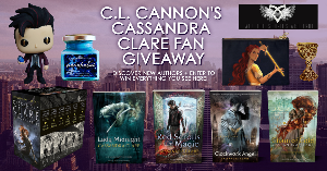 Enter to win the entire 6-book Mortal Instruments series, hardbacks of Lady Midnight, The Red Scrolls of Magic, Clockwork Angel, and Chain of Gold, plus a Magnus Bane custom Funko Pop, Parabatai candle, Cordelia Carstairs zipper pouch...+more!!
