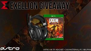 Exellion is giving away 1 copy of Doom Eternal for PC/XB1/PS4 & 1 pair of ASTRO A40 TR headset!!