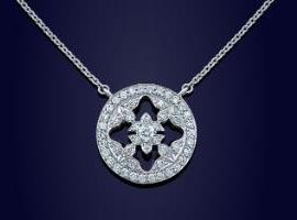 fabulous Mappin & Webb diamond pendant necklace Giveaway!