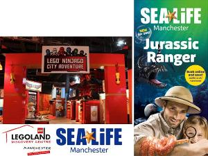 Family Annual pass for Legoland® Discovery Centre Manchester and Sea Life Manchester