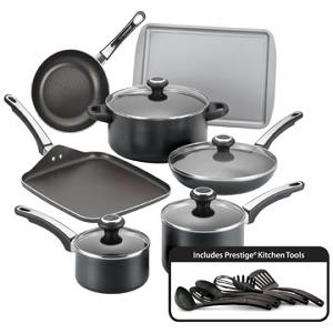 Farberware Nonstick 17-Piece Cookware Set. (ARV $160)
