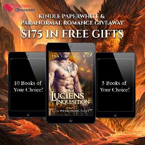 First place winner gets a FREE Kindle Paperwhite. Second place winner also gets 10 Kindle paranormal romance books of their choice from Amazon. Third place winner gets 5 Kindle paranormal romance books of their choosing!