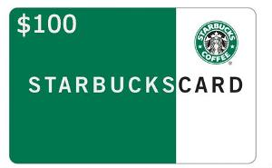 Five $100 Starbucks Gift Card Giveaway Worth $500