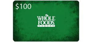 Five $100 Whole Foods Market Gift Cards Giveaway Worth $500