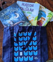 Five lucky winners will each receive a prize pack including three picture books celebrating the art of making and keeping friends and a sturdy book bag!