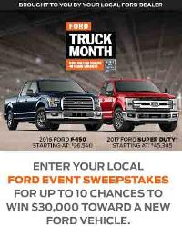 Ford Truck Month Sweepstakes