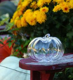 Four Glass Pumpkins