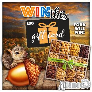 Four lucky readers will each win a gourmet nut gift set and a $50 Amazon gift card!