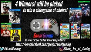 Four lucky winners will receive a game of their choice! Valued @ $60 USD (Digital code)