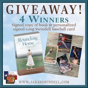 FOUR WINNERS: Signed copy of ROUNDING HOME + signed Greg Swindell baseball card
