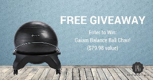 Gaiam Balance Ball Chair Giveaway!