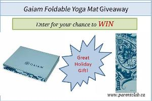 Gaiam Foldable Yoga Mat Giveaway!