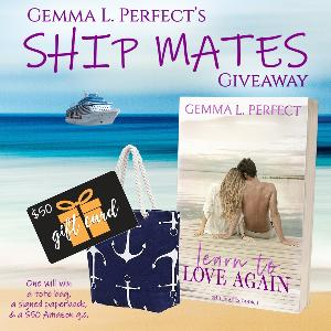 Gemma Perfect is celebrating the release of her upcoming book, LEARN TO LOVE AGAIN with this giveaway rewarding one lucky bookworm with a tote bag, a signed paperback, and a $50 Amazon gift card!
