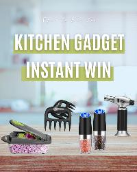 """Get ready to Instantly Win! Spin to win a one four kitchen gadgets. You can try once a day (see below the wheel for """"Earn your Daily Spin"""")"""
