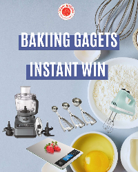 """Get ready to Instantly Win! Spin to win a one of five baking gadgets. One lucky winner will win a Ninja food processor! You can try once a day (see below the wheel for """"Earn your Daily Spin"""")"""
