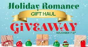 Gift Haul with Contributions from 40 authors, including multiple gift cards and paperback books, Godiva chocolate, swag, ornaments, light diffuser and essential oils set, jewelry, swag, mugs, trinkets, a tee shirt, tea, and more! !