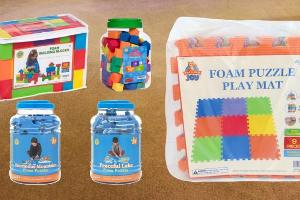 Giveaway of Foam Toys