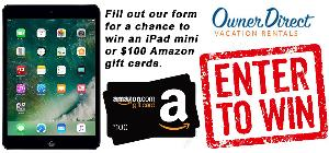 giving away two $100 Amazon gift cards and an iPad mini!