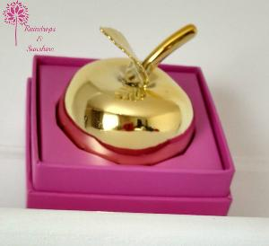 Gold Apple Paperweight