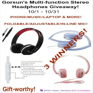 Gorsun's Multi-function Stereo Headphones Giveaway Giveaway!