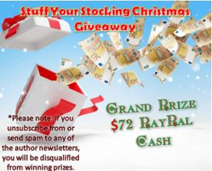Grand Priz$72 Paypal , plus lots more prizes of books, gift cards & more...