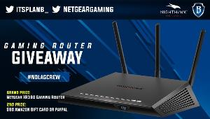 Grand Prize (1 winner)  NETGEAR Nighthawk Pro Gaming XR300 WiFi Router &Second Prize (1 winner)  $60 Gift Card from Amazon or $60 Cash via Pay Pal chosen by Winner