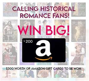 Grand Prize:  $200 Amazon or iTunes gift card & Runner up prizes: 4 x $25 Amazon or iTunes gift cards!!