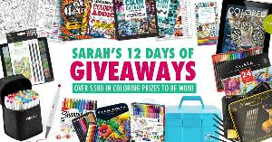 Grand Prize=A 1-year digital subscription to COLORED PENCIL Magazine + the 2020 CD – Donated by Colored Pencil Magazine,The 48 set of Ohuhu Dual Tip Alcohol Art Markers ,The 36 pack of Staedtler Triplus Fineliner Pens,.....+ so much more..