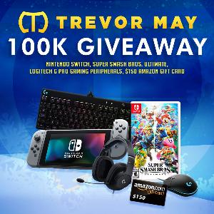 Grand Prize (One Winner):  Nintendo Switch  Super Smash Bros. Ultimate  Second Prize (One Winner)  :Logitech G Pro Gaming Peripheral (Mouse, Keyboard, or Headset) . Third Prize (One Winner) : $150 Amazon Gift Card