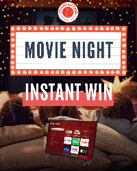 GRAND PRIZE: TCL TV to enjoy your movies on!