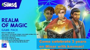 Grand prize : The Sims 4: Realm of Magic Game Pack for PC plus one month of Mixer Pro plus a one month sub to your Mixer Partner of choice...+more