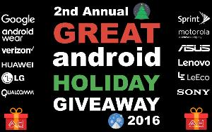 Great Android Holiday Giveaway, including Pixel, Pixel XL, LG V20 and many more devices