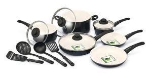 GreenLife 14-Piece Nonstick Cookware Set (ARV $107)