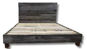 Grey Barn Board Bed Frame & Head Board