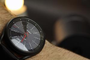 Gunmetal Black Calendar Watch ($329)