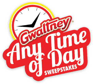 "GWALTNEY ""ANY TIME OF DAY"" SWEEPSTAKES - text only"