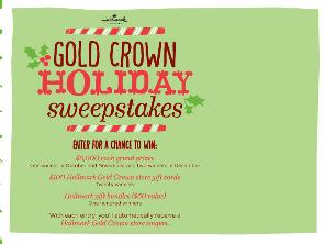 Hallmark's $5,000 check sweepstakes
