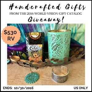 Handcrafted Gifts from the World Vision Gift Catalog Giveaway